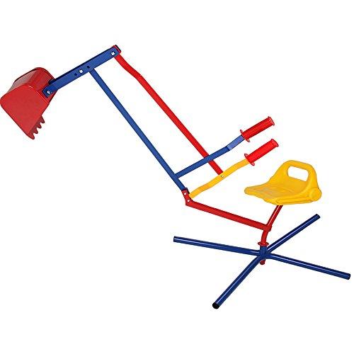 Deuba Sandbagger Sitzbagger 125x65x60cm Kippschaufel 360° Radius bis 40kg Metall Sandkastenbagger Sandspielzeug Sandkasten