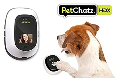 PetChatz HDX and PawCall HDX Bundle: [New] USA Made Luxury 2-Way Audio & Video Pet Treat Camera & Accessory, HD 1080p, Motion/Sound Detection Smart Video Recording, Streams DOGTV, for Dogs and Cats