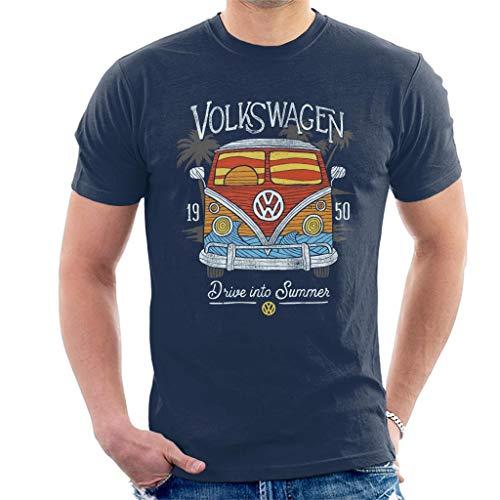 Volkswagen Drive Into Summer Men's T-Shirt Navy Blue