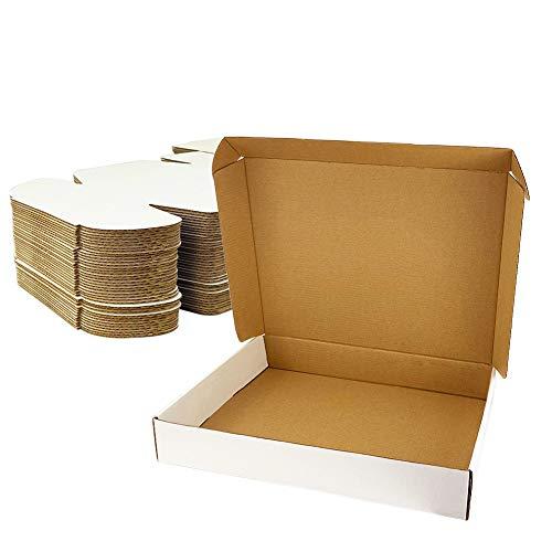 Giftgarden Scatole di Cartone Imballaggio Piatte 25 Pezzi 330x254x51 MM A4 Scatole per spedizione o Lo stoccaggio Bianca