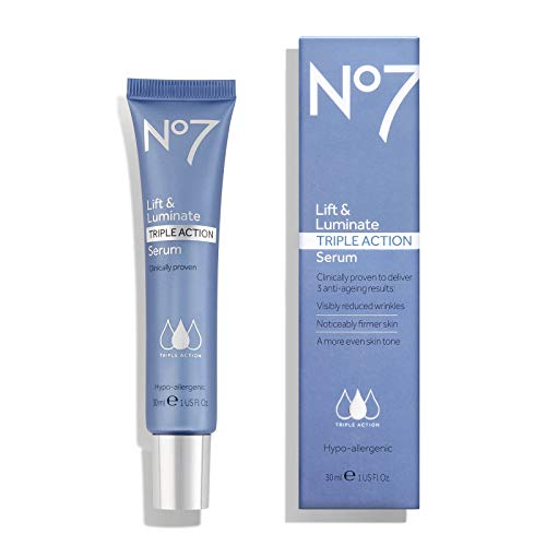 Lift & Luminate Triple Action Serum by No#7 Boots for Visibly Reduced Wrinkles 1 OZ