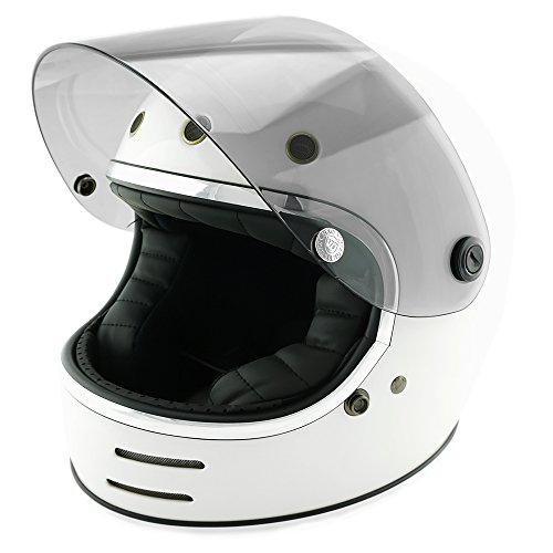 NEO VINTAGE レトロフューチャー フルフェイス SG規格品 [ホワイト×ライトスモークシールド 白 Mサイズ:57-58cm対応] VT-9 バイクヘルメット