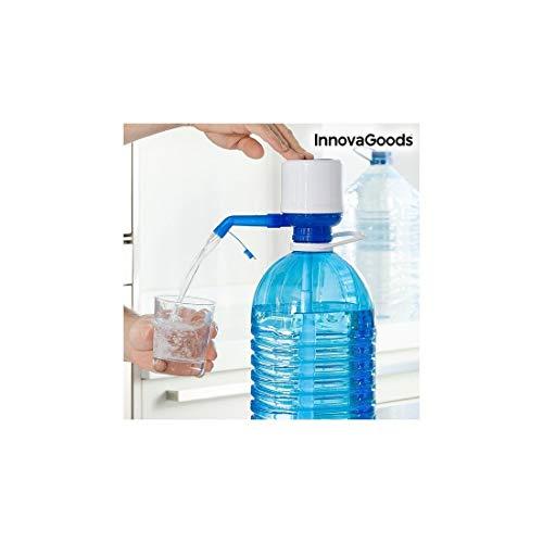 InnovaGoods Dispensador de Agua para Garrafas, Polipropileno, Blanco/Azul, 16.5x8x18 cm