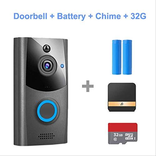 DYWLQ///7 Pouces Sonnette Intelligente 3 cam/éra//interphone vid/éo Familial Syst/ème dinterphone RFID IR-Cut HD Cam/éra Cam/éra de Sonnette avec 3 /écrans imperm/éable