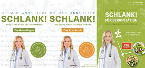 Schlank! Die Grundlagen + 2 Kochbücher im Set + 1 exklusives Postkartenset