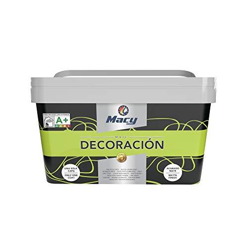 Pintura Plástica Mate Decoración Interiores Excelente Cubrición, Acabado Perfecto. 4 Litros. Color Lima
