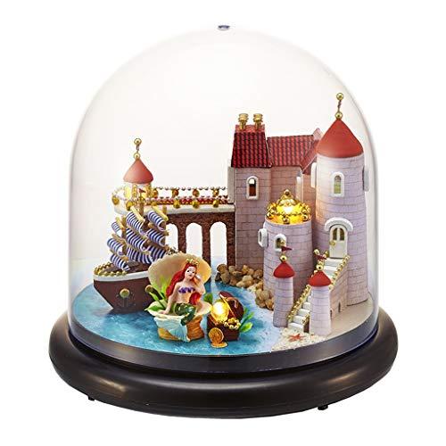 Kinderen volwassen miniatuur poppenhuis model stofkap houten meubels Cover poppen poppenhuizen speelgoed