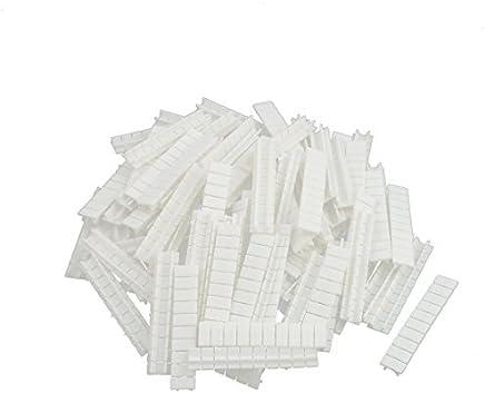 eDealMax 100Pcs ZB5 terminales en carril DIN bloque de marcado Las etiquetas etiquetas en Blanco Blanca