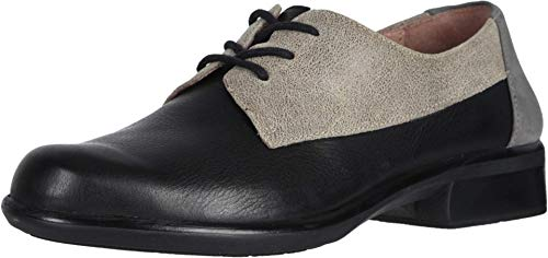 NAOT Footwear Women's Kedma Lace Up Shoe Black/Beige/Gray Combo 11 M US