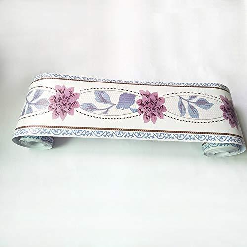 Byrhgood Sala de Estar Dormitorio Cocina baño azulejo baldosas Pegatinas de Cintura PVC Autoadhesivo Papel Tapiz decoración Etiqueta de Pared Impermeable (Color : WB12 02)