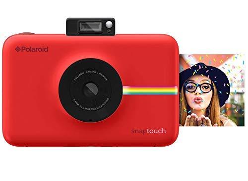 Polaroid Snap Touch 2.0 - Cámara digital portátil instantánea de 13 Mp, Bluetooth, pantalla táctil LCD, tecnología Zink sin tinta y nueva aplicación, copias adhesivas de 5 x 7.6 cm, rojo