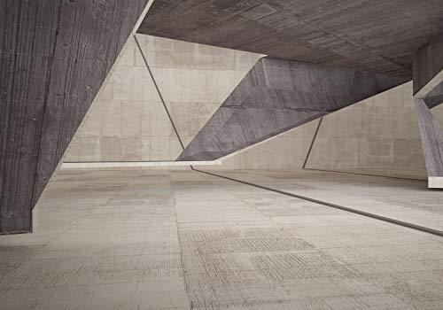 wandmotiv24 Fototapete Raum aus geometrische Formen, S 200 x 140cm - 4 Teile, Fototapeten, Wandbild, Motivtapeten, Vlies-Tapeten, Abstrakt Kunst M6041