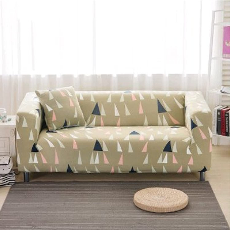 Elastic Sofa Cover Printed Flowers Slipcover Tight Wrap All-Inclusive Corner Sofa Cover Stretch Furniture Covers 1 2 3 4 Seater   18, Single seat Sofa