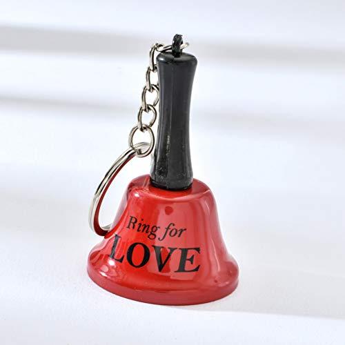 CHENSHUANG Liebe Ring Bunte Mini Glocke Schlüsselbund Schlüsselring Wind Glockenspiel Metall Schlüsselring Geschenk für weibliche Mädchen oder Liebhaber