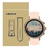 LvBu Armband Kompatibel Für Fossil Q Venture, Sport Silikon Classic Ersatz Uhrenarmband Für Fossil Q Venture Gen 4 / Fossil Q Venture Gen 3 Smartwatch (Pink)