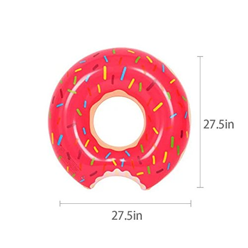 Spring Summer New Float 70Cm Inflatable Adult Swim Ring Thickened Strawberry Donuts Chocolate Flotador Donut Lifebuoys