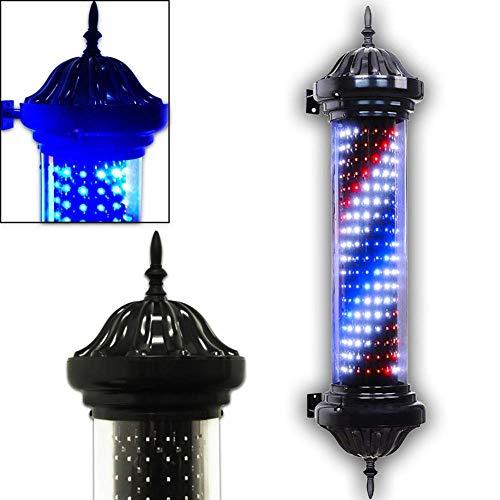 Barberos LED en el poste, Iluminación rotativa Peluquería Letrero de salón Luz Rojo Blanco Grande Muy brillante Impermeable Ahorre energía Lámpara de pared