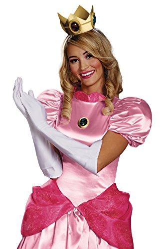 Super Mario 13382 – Set Déguisement Princesse Peach, Blanc, Taille Unique