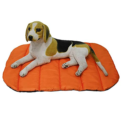 Colchonetas portátiles para dormir para perros, resistentes al agua, cama para mascotas para interiores y exteriores, camping, viajes (L, naranja)