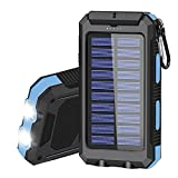 Solar Charger 20000mAh Portable Solar Power Bank for Cell Phone Waterproof External...