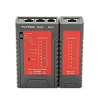 Benkeg ネットワークケーブルテスター,イーサネットLANケーブル固定電話電話線テストツール用NF-469ネットワークケーブルテスターRJ45 RJ11テスター