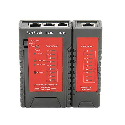 KKmoon Netzwerk Kabeltester RJ45 RJ11 Tester für Ethernet LAN Kabel Festnetztelefon Draht Test Tool