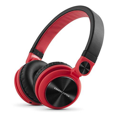 Energy Sistem Headphones DJ2 Red (Auriculares Estilo DJ, Flip-Up Ear Cups, Detachable Cable, Foldable) Rojo