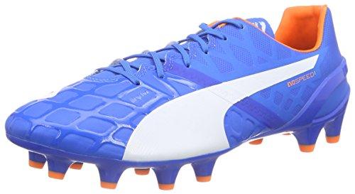 PUMA Herren Evospeed 1.4 FG Fußballschuhe, Blau (Electric Blue Lemonade-White-orange Clown Fish 03), 40.5 EU