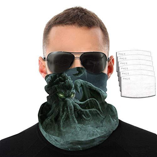 downthrow Monster Fantasy Art Motorradabdeckungen für Männer Motorradabdeckung Skiabdeckung Halsmanschette Kopfbänder mit Filtern, Farbe1,2 Filter