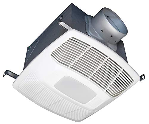 Air King White 150 CFM Single Speed 0.6 Sone Ceiling Exhaust Bath Fan with LED Light, ENERGY STAR