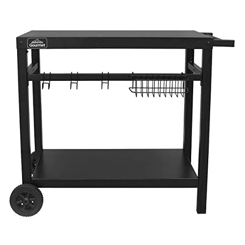 Dellonda Barbecue/Plancha Trolley for Outdoor Grilling/Cooking with Utensil Holder