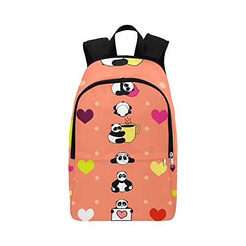 Limiejo Cooler Travel Bag Cute Panda Umbrella Rabbit Flower Durable Water Resistant Classic Best School Bags Backpacks for Men Bag for College Girl Hiking Gift Bag