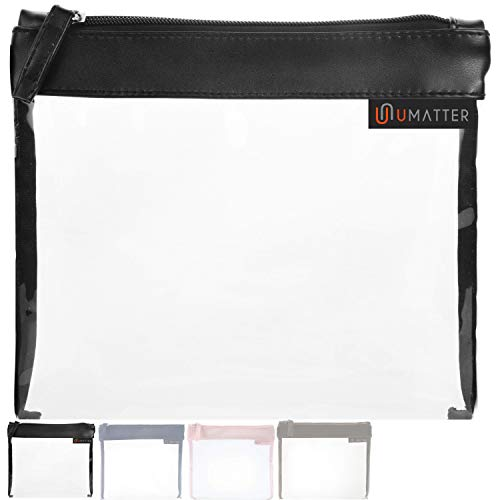 umatter ® Flugzeugbeutel, Kulturbeutel transparent für Flüssigkeiten im Handgepäck, durchsichtige Kulturtasche, 1 Liter Reiseset, Kosmetiktasche, die Reisetasche ist Ideal für die Flugreise