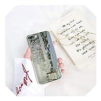 クロードモネ油絵ヒマワリ電話ケース互換性 For iPhone 11 12 プロマックスX SS MAX 6 6s 7plus 8 8Plus 5 5S SE XR 12mini-A13-For iphone XR