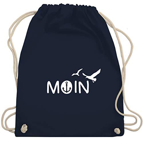 Shirtracer Statement - Moin - Unisize - Navy Blau - turnbeutel herren - WM110 - Turnbeutel und Stoffbeutel aus Baumwolle