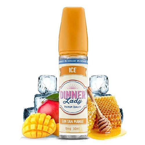 Sun Tan Mango Ice 50 ml 0% Sucralose – Dinner Lady – Sin tabaco ni nicotina – Venta prohibida a personas menores de 18 años – 0 MG – Género: 40 – 70 ml