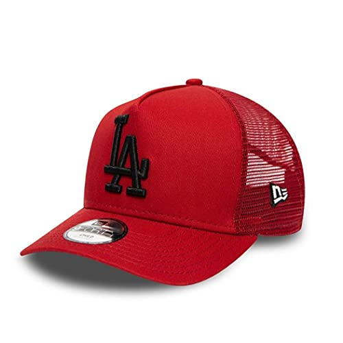 New Era Los Angeles Dodgers MLB League Essential Red 9Forty Kids A-Frame Adjustable Trucker Cap - Youth