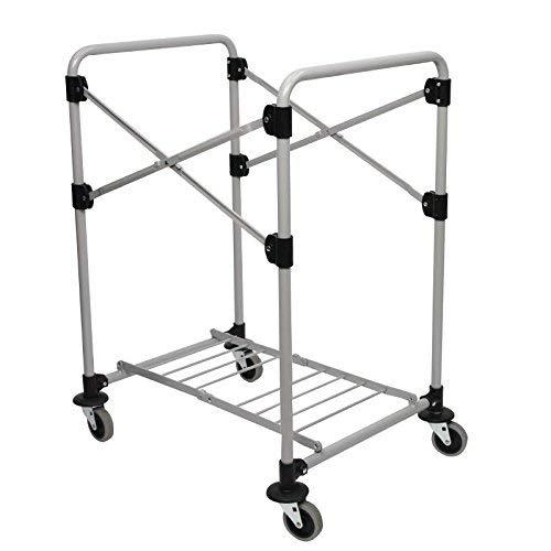 Rubbermaid Commercial Products Wäschewagen-Rahmen X-Cart , zusammenklappbar, 150l, Grau