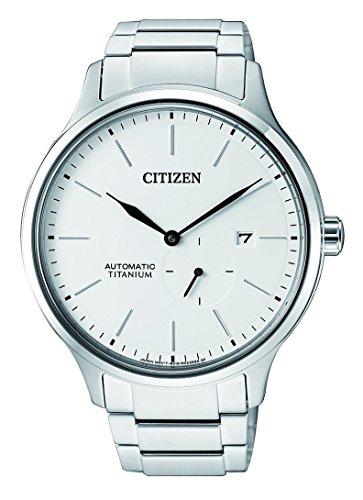 Citizen Orologio Analogico Meccanico Uomo con Cinturino in Titanio NJ0090-81A