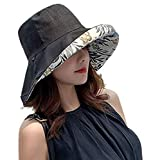 日よけ UV カット ハット 帽子 レディース 2way 両面使え 紫外線対策 日焼け防止 熱中症予防 取り外すあご紐 サイズ調節可能 つば広 折りたたみ おしゃれ 海 旅行 外出 可愛い ハット 女優帽 春夏季 小顔効果抜群