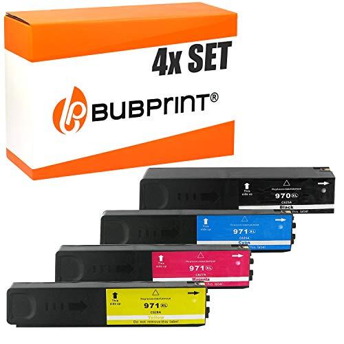 4 Bubprint Druckerpatronen kompatibel für HP 970XL 971XL für OfficeJet Pro X451dn X451dw X476dn X476dw X551dw X576dw X450 X470 Schwarz Cyan Magenta gelb Multipack