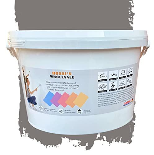 2,5 Liter Premium Wandfarbe Eagel Rays Grey Grau matt  geruchslos   tropf- und spritzgehemmt
