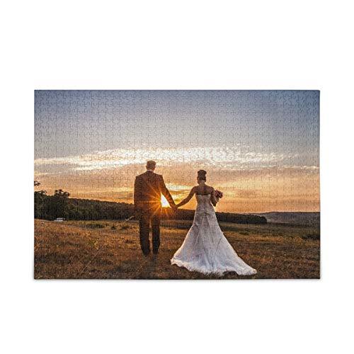 alaza Puzzle mit Eigenem Foto 500 Teile Personalisiertes Puzzle mit Eigenem Bild Lustige Geschenke für Kinder Muttertag DIY Geschenk Hochzeitsgeschenke