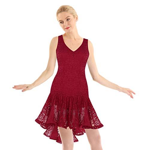 iixpin Vestido de Danza Latina para...