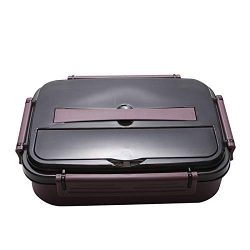 Caja de almuerzo portátil, rojo rubí