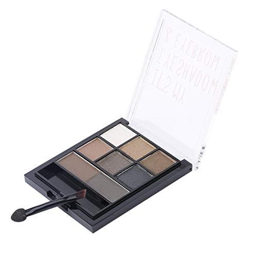 Ombre à paupières sourcils palette de poudre professionnel cosmétique sourcils Enhancer étanche maquillage des yeux beauté avec brosse - 1# couleur
