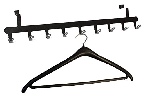 TÜRGARDEROBE für die Rückseite - Garderobe - Tür Garderobenleiste - Stahl (schwarz)
