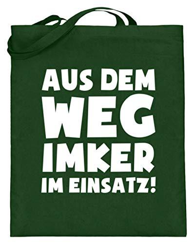 shirt-o-magic Imkern: Imker im Einsatz! - Jutebeutel (mit langen Henkeln) -38cm-42cm-Grün