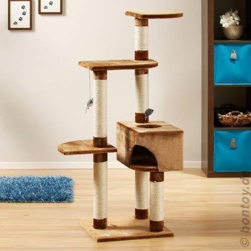 Bontoy - Rascador para Gatos Sasu marrón (138 cm)
