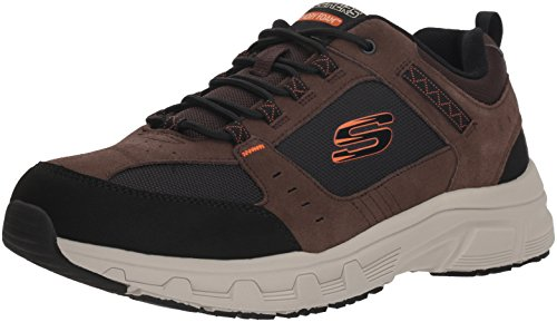 Skechers Men's OAK CANYON Sneakers, Brown (Chocolate Black Chbk), 9.5 (44 EU)